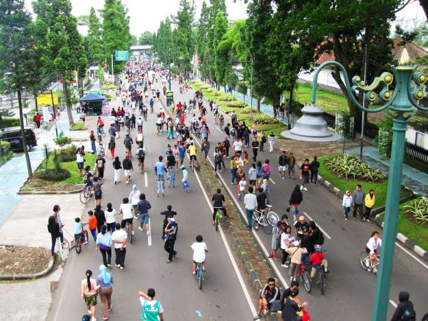 Lokasi Car Free Day Dago